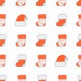 Le ` s de Santa cogne le vecteur sans couture de modèle Photos stock