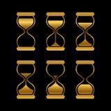 Le sabbie dorate di tempo, vettore della clessidra hanno isolato i simboli illustrazione vettoriale