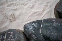 Le sable et la pierre naturels font du jardinage avec le foyer sélectif simplicité photographie stock