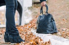 Le sac à main des dames. Photographie stock libre de droits