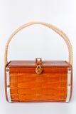 Le sac à main a effectué le bois d'ââof Images stock