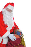 le sac Claus présente Santa Photo libre de droits
