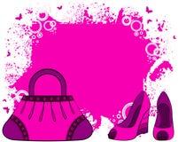 Le sac de la femme de dessin animé. Image stock