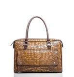 Le sac des femmes a fait le ‹d'†de ‹d'†de la peau de crocodile Photo stock