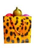 Le sac est martelé par les cadeaux d'an neuf Image stock