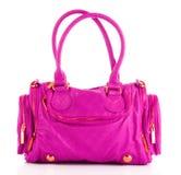 Le sac rose de femmes a isolé Photo libre de droits