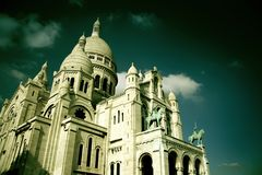 Le Sacre-Coeur à Paris Image stock