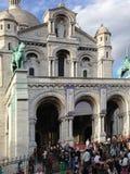 Le Sacre Coeur, Paris, Frankrike Fotografering för Bildbyråer