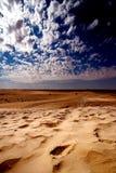 Le Sahara dunaire Photographie stock libre de droits