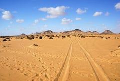 Le Sahara, le désert noir, Egypte Photo libre de droits