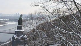Le saint célèbre Vladimir de monument de Kiev le baptiste images libres de droits