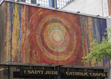 Le saint Jude Chapel Mosaic par Gyorgy Kepes à Dallas du centre, le Texas images stock