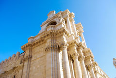 Le saint Lucia Cathedral à Syracuse sicily photographie stock