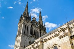 Le saint Maurice Cathedral de irrite, des Frances Photographie stock libre de droits