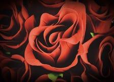 Le Saint Valentin et a monté sur le fond Photos stock