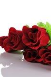 Le Saint Valentin et a monté sur le fond blanc Images stock