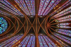 Le Sainte Chapelle en La citent de Paris images stock