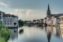 Le Salat river in Saint Girons, France Royalty Free Stock Photo