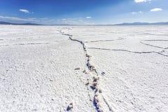 Le saline Grandes in Jujuy, Argentina Fotografia Stock