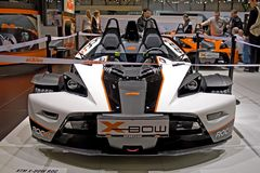 Le salon automatique 2009 de Genève X-cintrent KTM Image stock