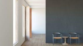 Le salon intérieur de composition en grenier moderne/3d rendent l'image Image stock