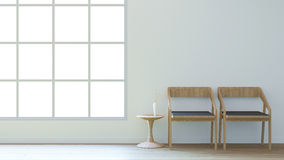 Le salon minimal/3d rendent l'image Images stock