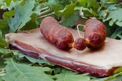 Le salsiccie elabora Fotografia Stock Libera da Diritti