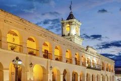 Le Salta Cabildo dans Salta, Argentine Photographie stock libre de droits