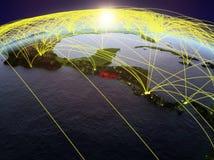 Le Salvador sur terre avec des réseaux illustration stock