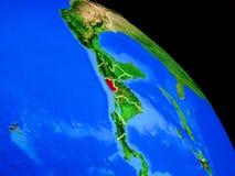 Le Salvador sur terre de planète illustration stock