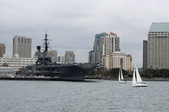 Le San Diego Waterfront Images libres de droits