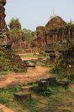 Le sanctuaire Cham de min son Vietnam Royaltyfria Bilder