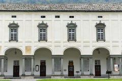 Le sanctuaire d'Oropa sur l'Italie Photos libres de droits