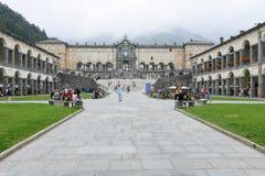 Le sanctuaire d'Oropa sur l'Italie, héritage de l'UNESCO images libres de droits