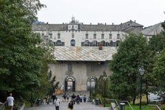Le sanctuaire d'Oropa sur l'Italie, héritage de l'UNESCO images stock