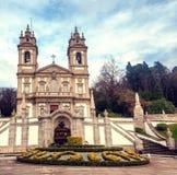 Le sanctuaire de Bom Jésus font Monte Point de repère populaire et pèlerinage image libre de droits