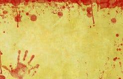 Le sang a éclaboussé le fond de papier Photos libres de droits