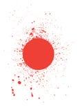 le sang balayé souille le vecteur illustration de vecteur
