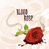 Le sang a monté Images libres de droits