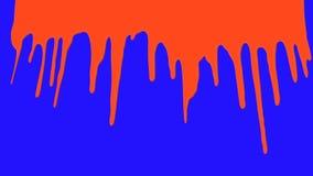 Le sang versent sur un fond d'écran bleu illustration stock