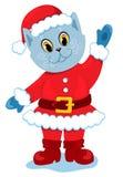 Le Santa-chat. Images stock