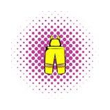 Le sapeur-pompier halète l'icône, style de bandes dessinées illustration stock