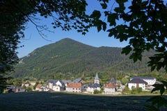 Le Sappey, een dorp van Chartreuse Stock Afbeeldingen