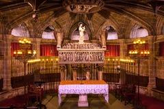 Martyre du 4ème siècle Barcelone catholique gothique Ca de St Eulalia de crypte photos libres de droits