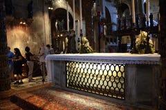 Le sarcophage de St Mark dans la basilique Venise Photographie stock