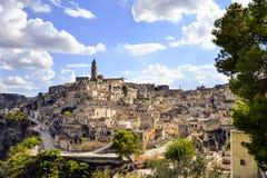 Le Sassi de Matera, Italie Photo libre de droits