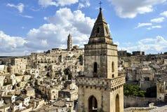 Le Sassi de Matera, Italie Images libres de droits