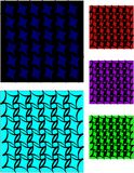 le sbavature macchia vari ambiti di provenienza e substrati Immagini Stock