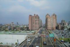 Le scénique sur le chemin à la station de MRT d'aéroport de Taoyuan Photo libre de droits