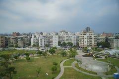 Le scénique sur le chemin à la station de MRT d'aéroport de Taoyuan Photos stock